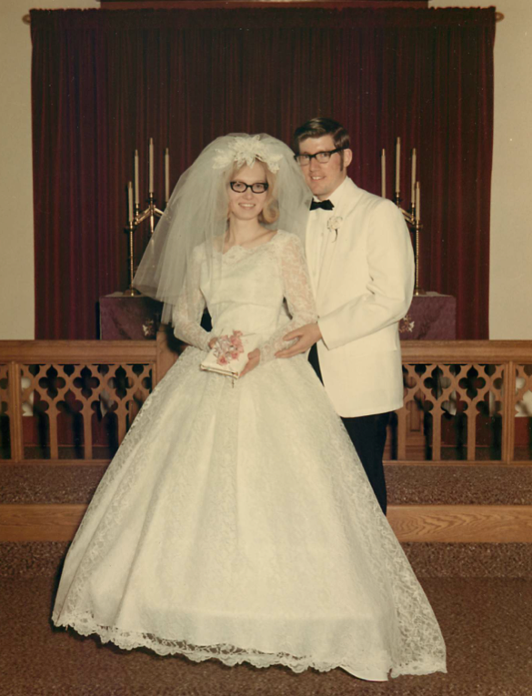 Wedding: Richard Shields and Cindy Mischke, February 20, 1971.