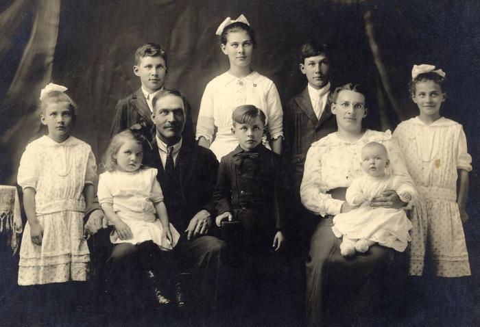 My grandmother on the far left (1916)