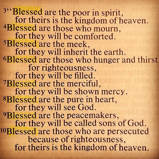 Matthew 5:3-10