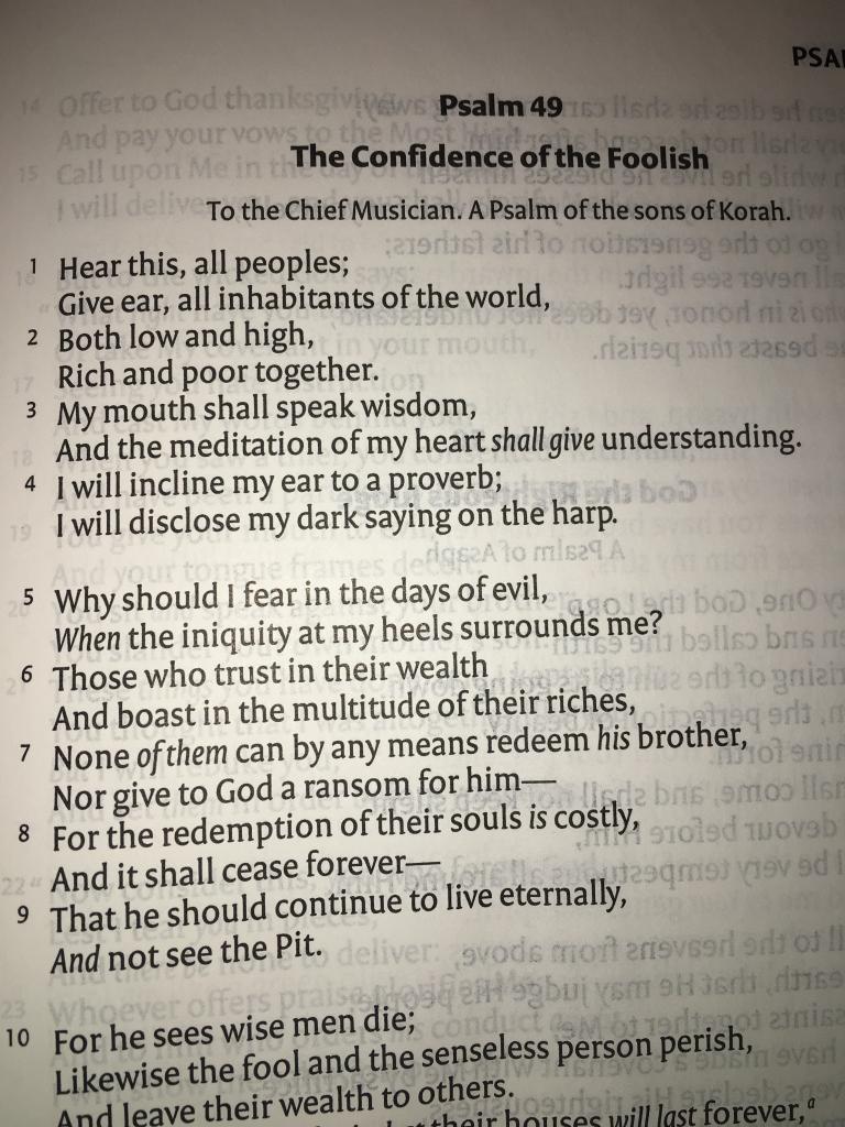 Psalm49NKJV