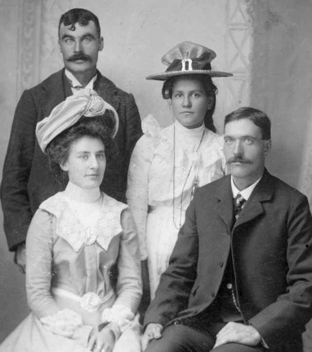Joseph Brown and Jenny Smith wedding, June 29, 1900.