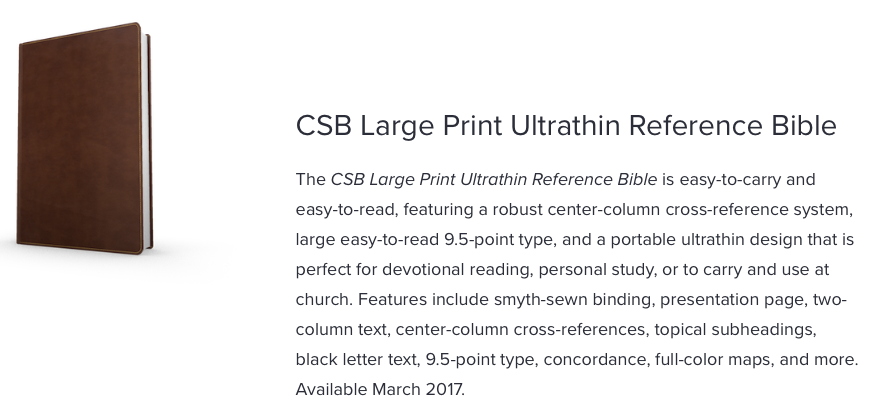 "CSB font sizes – ""believe, teach, and confess"""